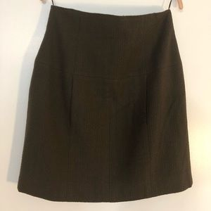 Chanel Boutique Green Wool Mini Skirt size 42